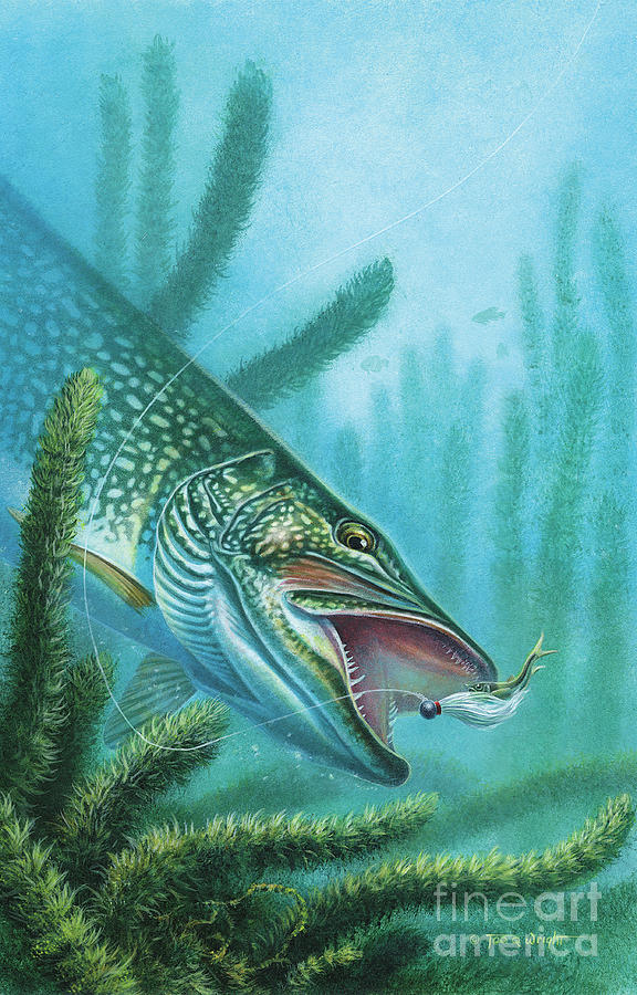Pike And Jig Painting