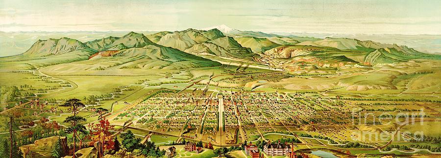 Pikes Peak Panorama Painting
