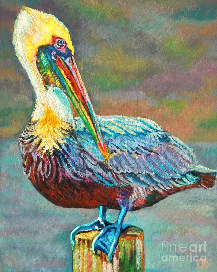Pile High Pelican Painting  - Pile High Pelican Fine Art Print