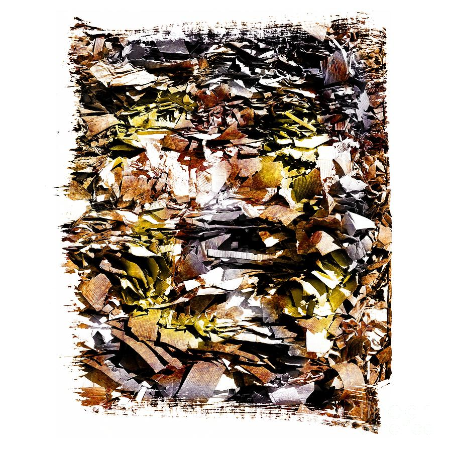 Pile Of Crushed  Paper For Recycling Photograph  - Pile Of Crushed  Paper For Recycling Fine Art Print