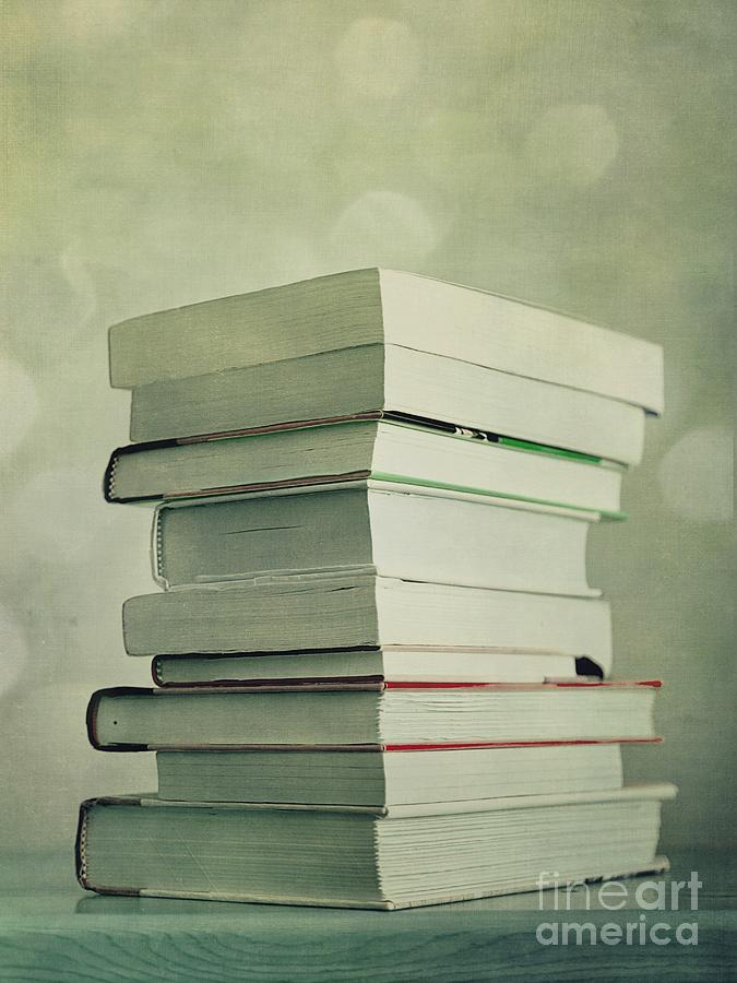 Piled Reading Matter Photograph  - Piled Reading Matter Fine Art Print
