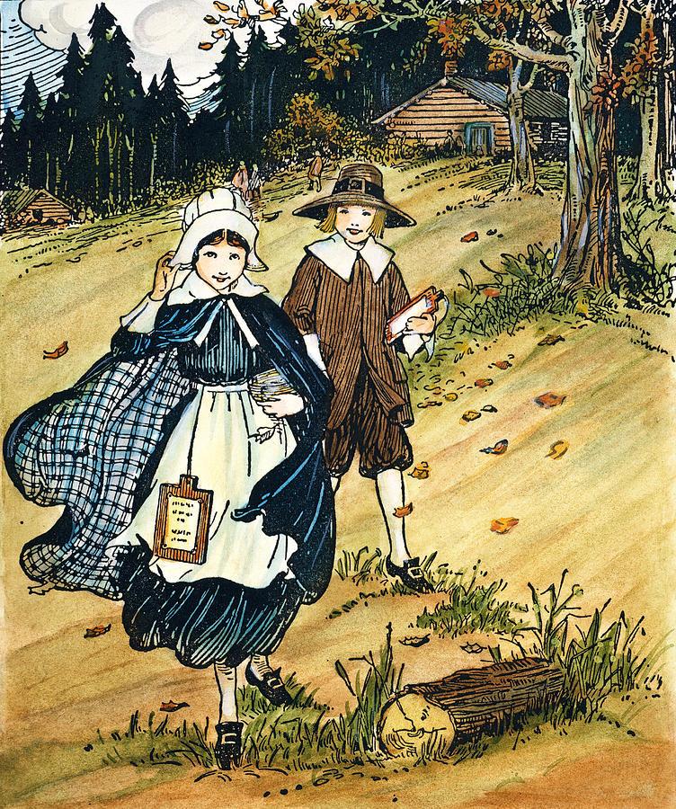 Pilgrim Schoolchildren Photograph