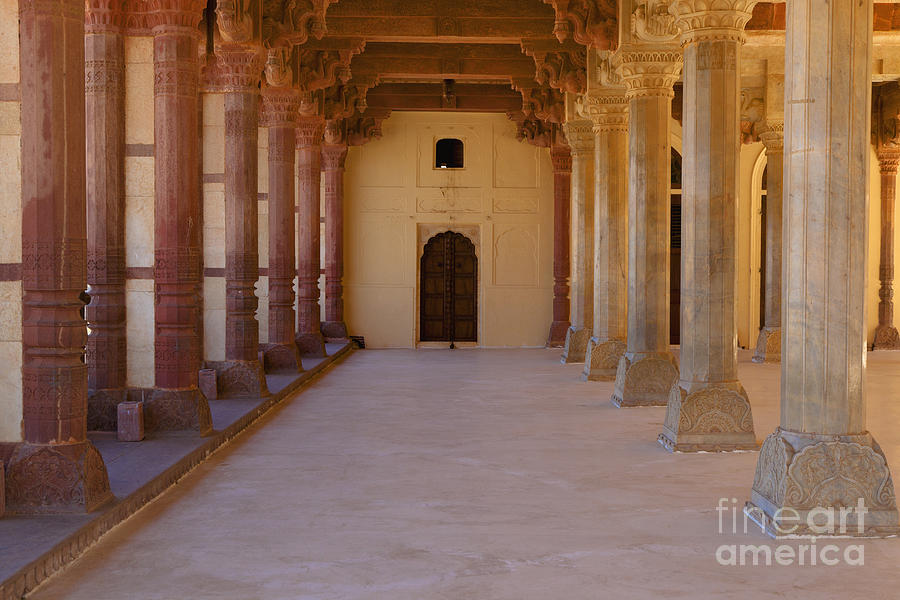 Amber Fort Photograph - Pillars In Amber Fort by Inti St. Clair