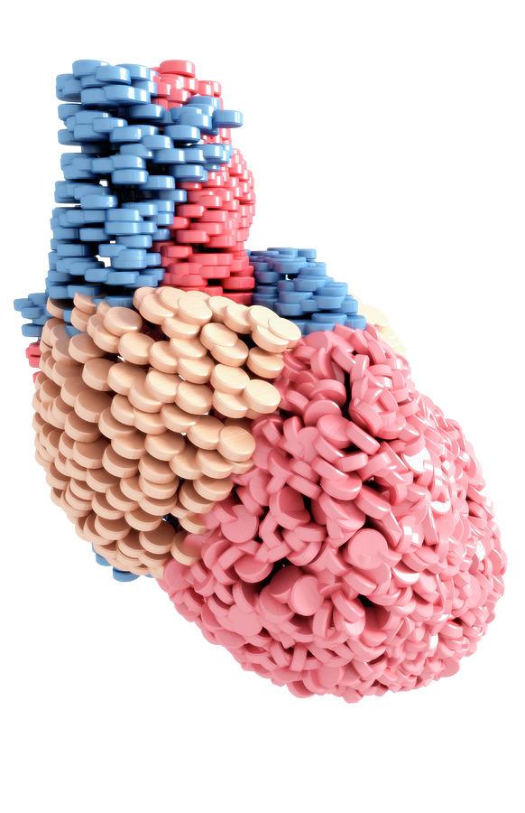 Pills Heart Digital Art
