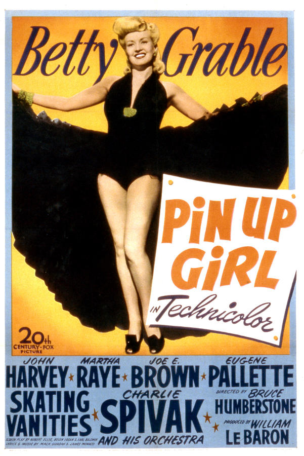 Pin Up Girl Betty Grable  Everett