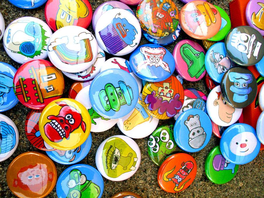 Pinback Photograph - Pinback Buttons by Jera Sky
