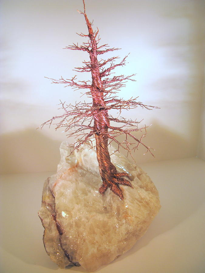 Pine Tree On Crystal Sculpture
