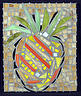 Pineapple Glass Art - Pineapple At West Village by Diane Morizio