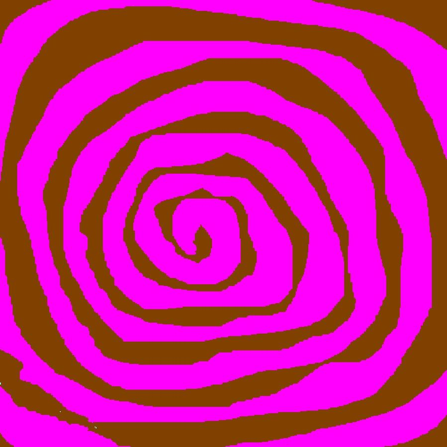 Pink And Brown Swirls Digital Art