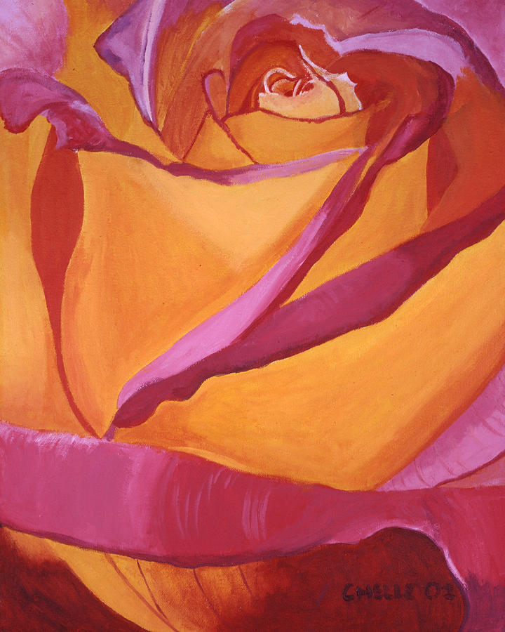 Pink And Yellow Rose Painting