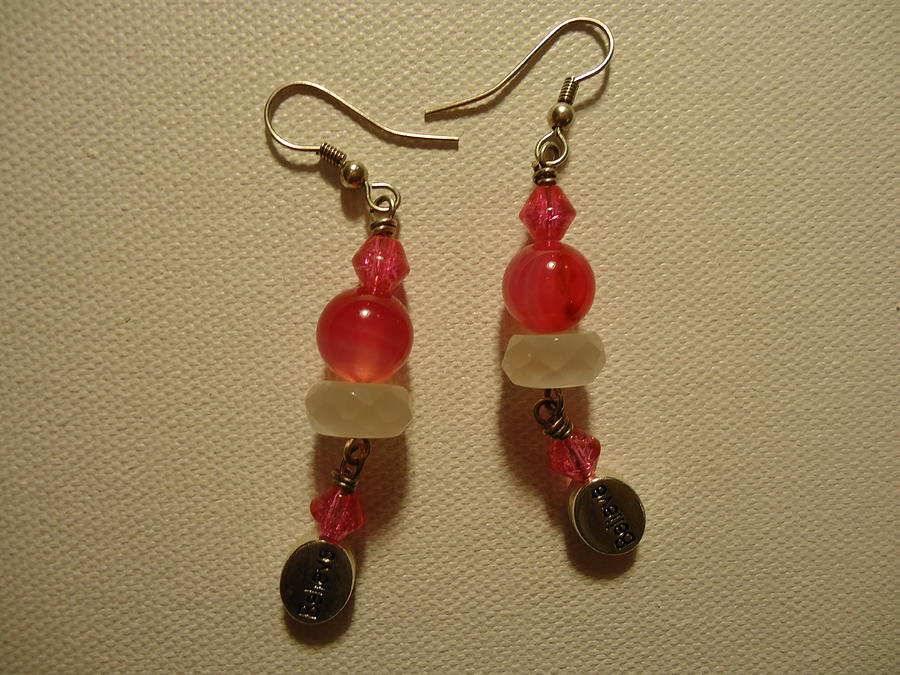Pink Believer Earrings Photograph