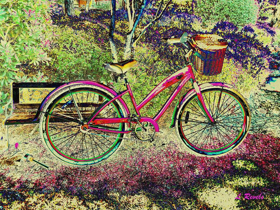 Pink Bicycle Photograph  - Pink Bicycle Fine Art Print
