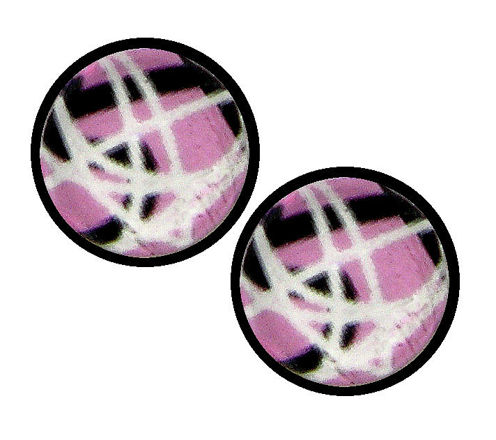 Pink Black Abstract Jewelry