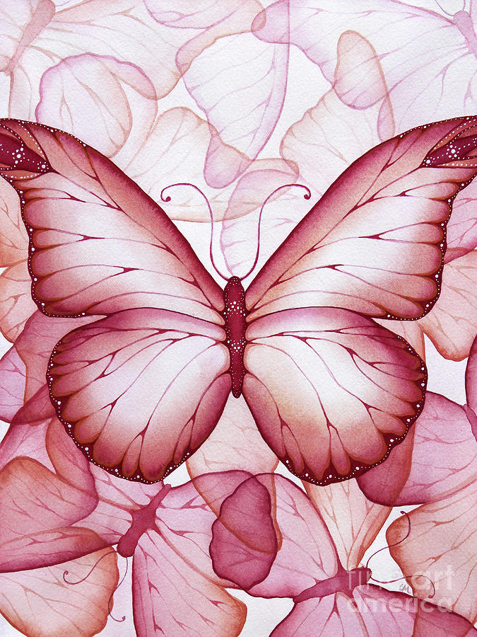 Pink Butterflies Painting