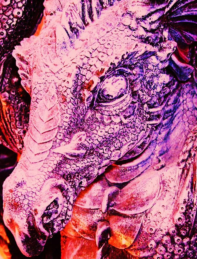 Pink-dragon Mixed Media