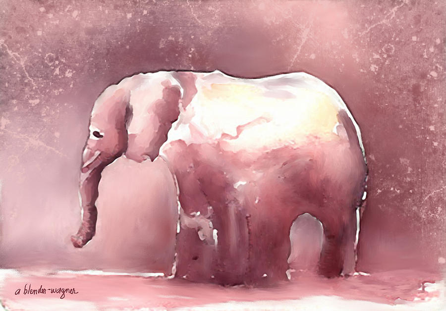 Pink Elephant Digital Art