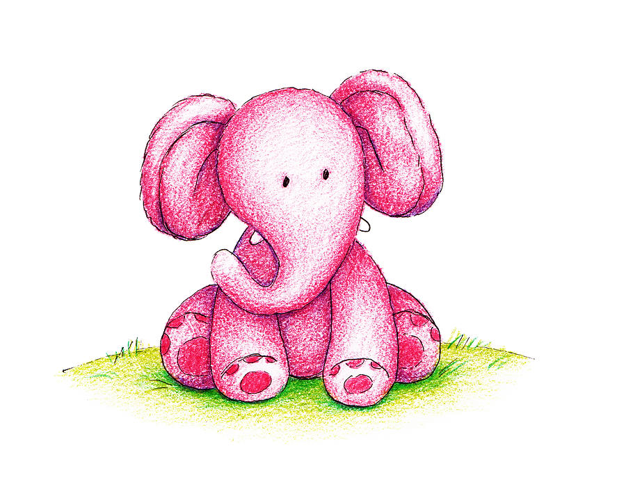 Cute baby elephant cartoon stock illustration ... |Cartoon Baby Elephant Pink