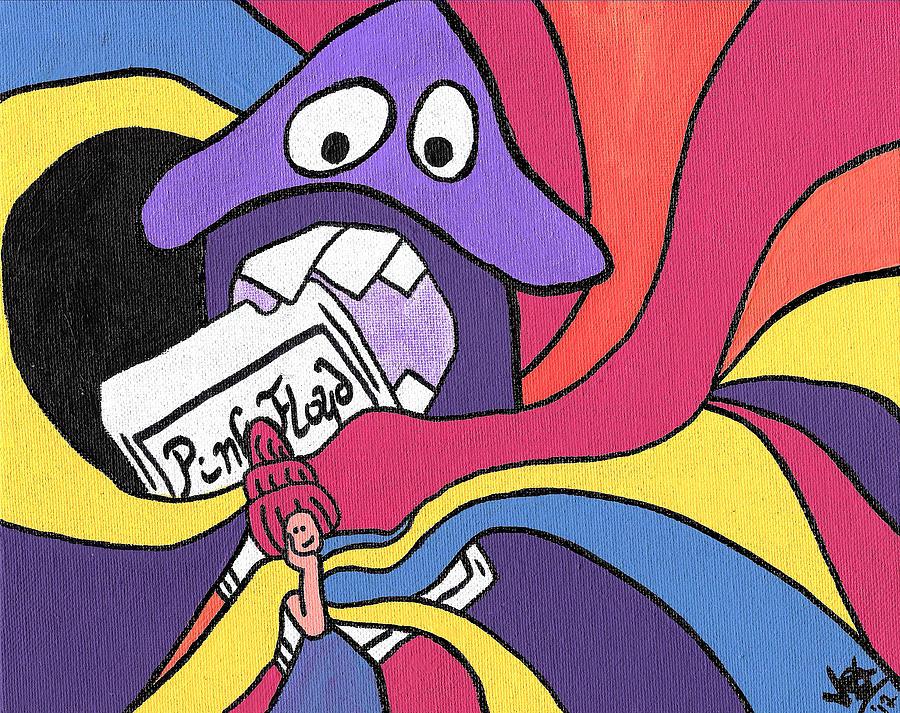 Pink Floyd 8 Track Trip Painting