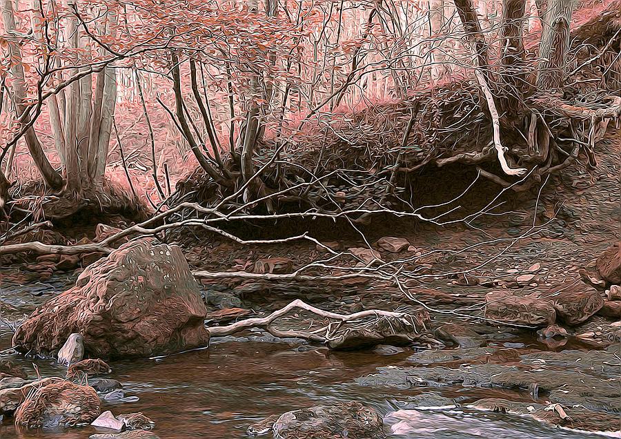Pink Forest Digital Art
