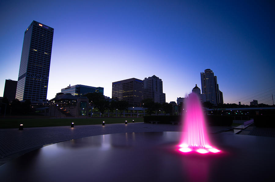 Pink Fountain Photograph