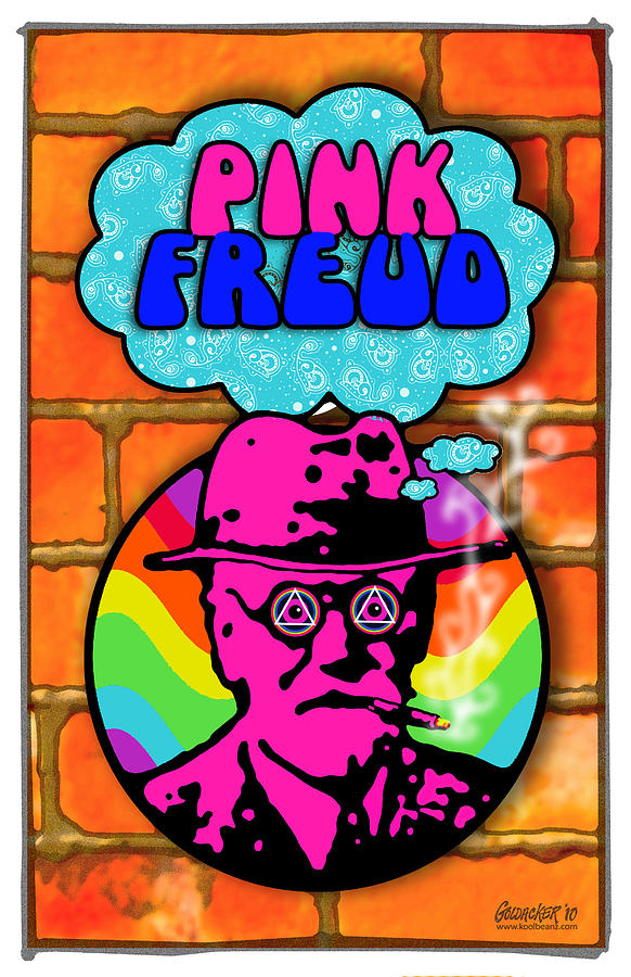 Pink Freud Digital Art