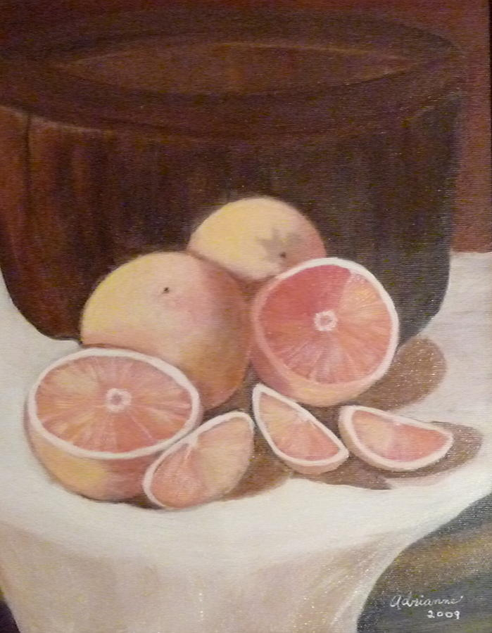 Pink Grapefruit Painting