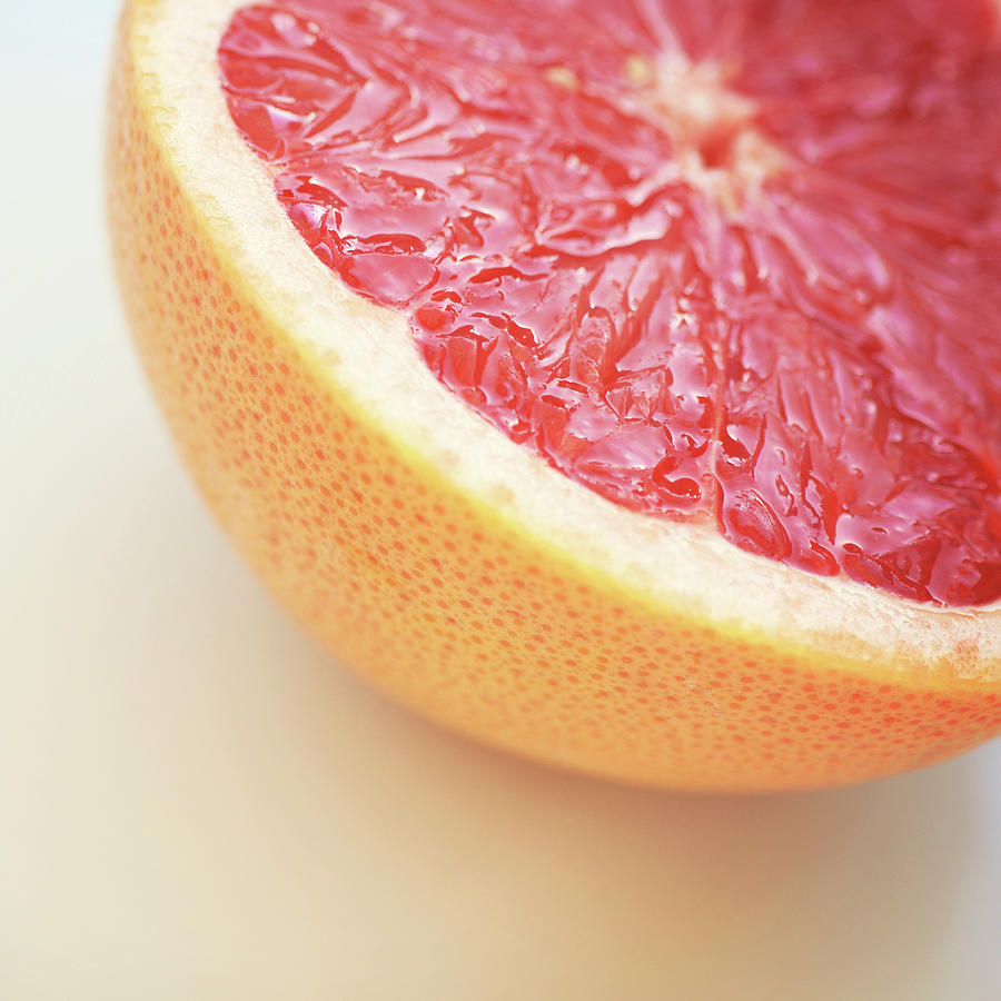 Square Photograph - Pink Grapefruit by Dhmig Photography