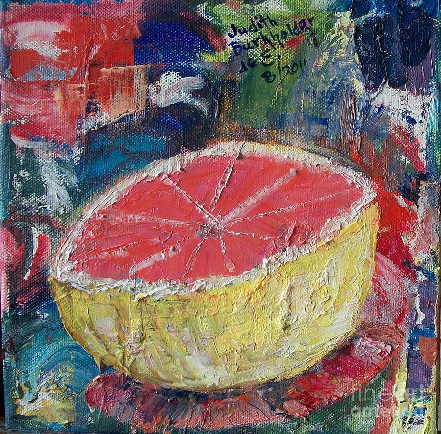 Pink Grapefruit Painting  - Pink Grapefruit Fine Art Print