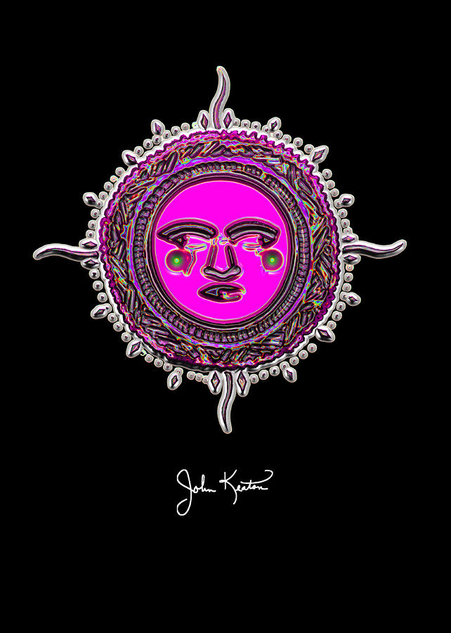 Pink Jewel Mohawk Sun Digital Art