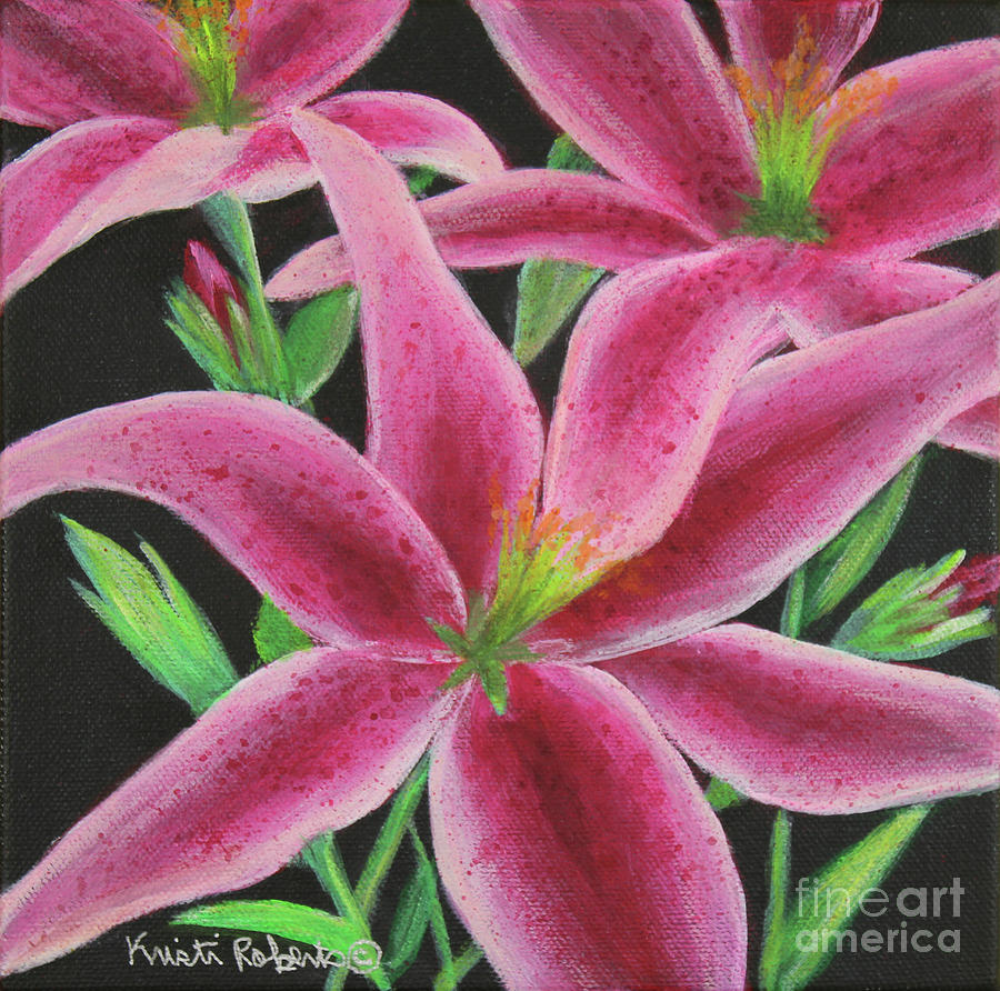Flowers Painting - Pink Paradise by Kristi Roberts