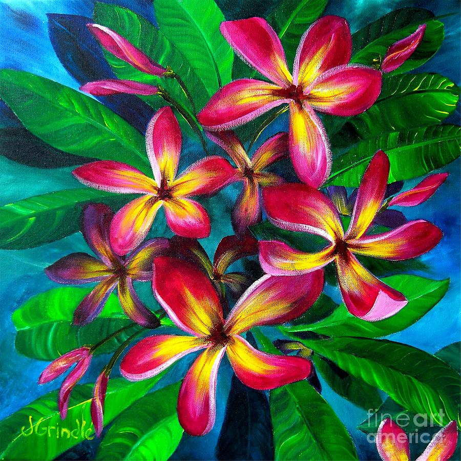 Pink Plumeria by Jerri Grindle