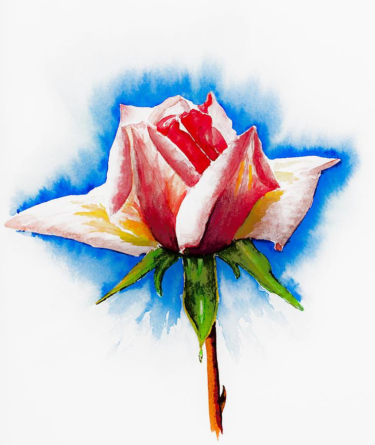 Pink Rose Painting