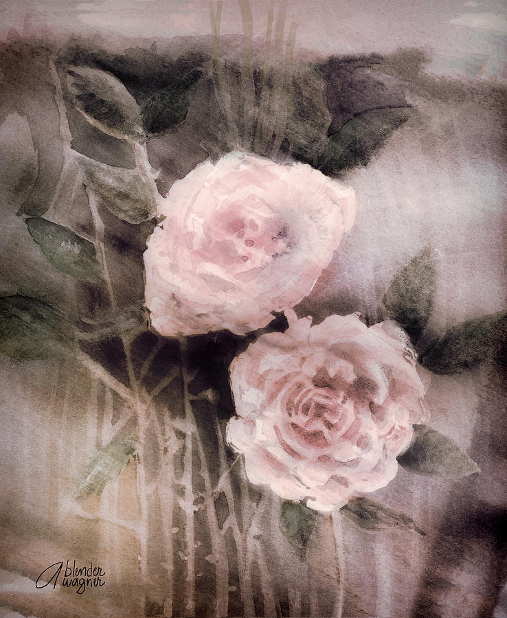 Pink Roses Painting  - Pink Roses Fine Art Print