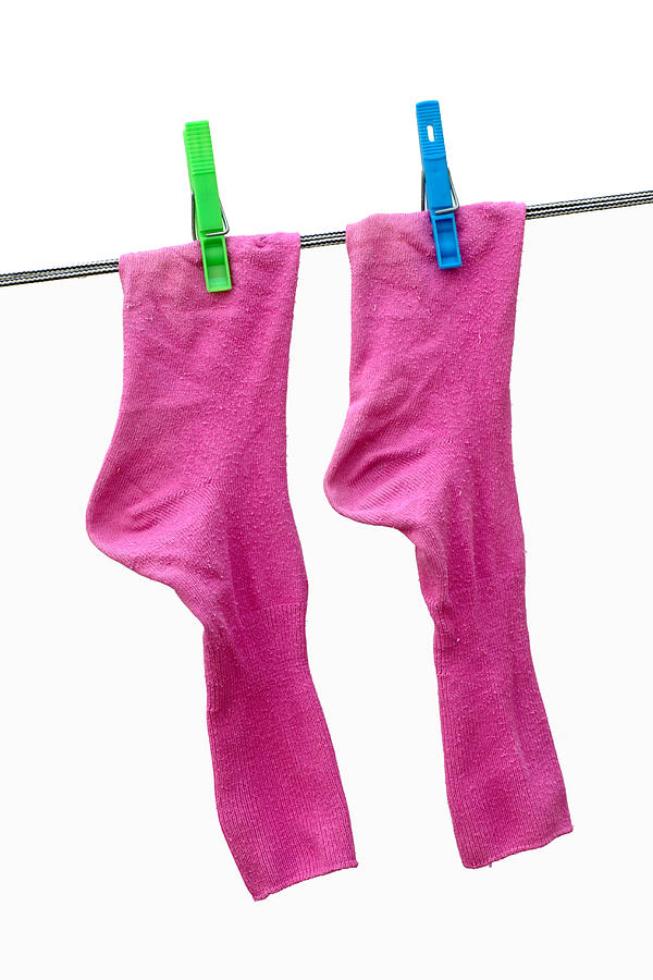 Pink Socks Photograph  - Pink Socks Fine Art Print