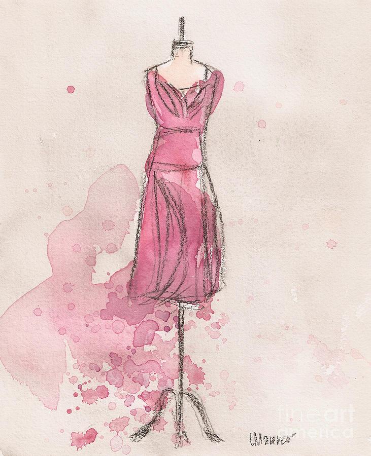 Pink Tulip Dress Painting