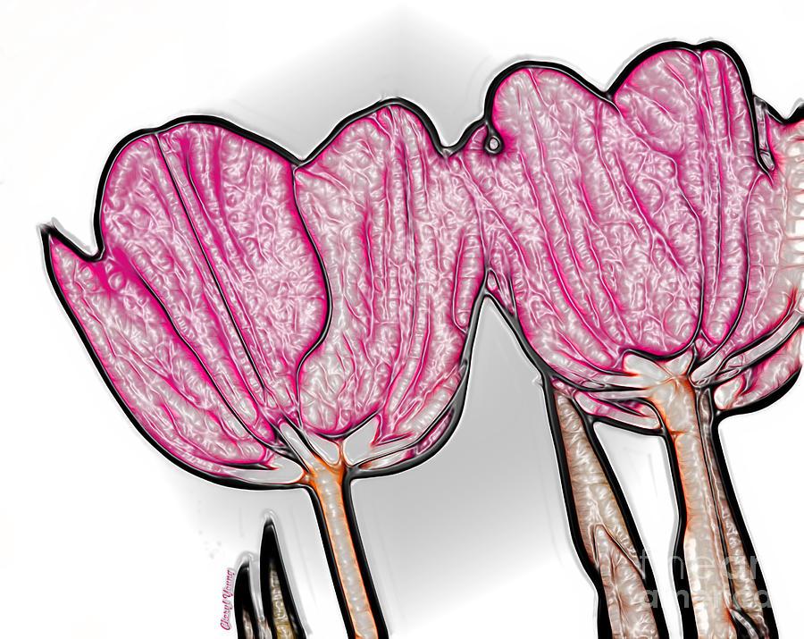 Pink Tulip In Plastic Photograph