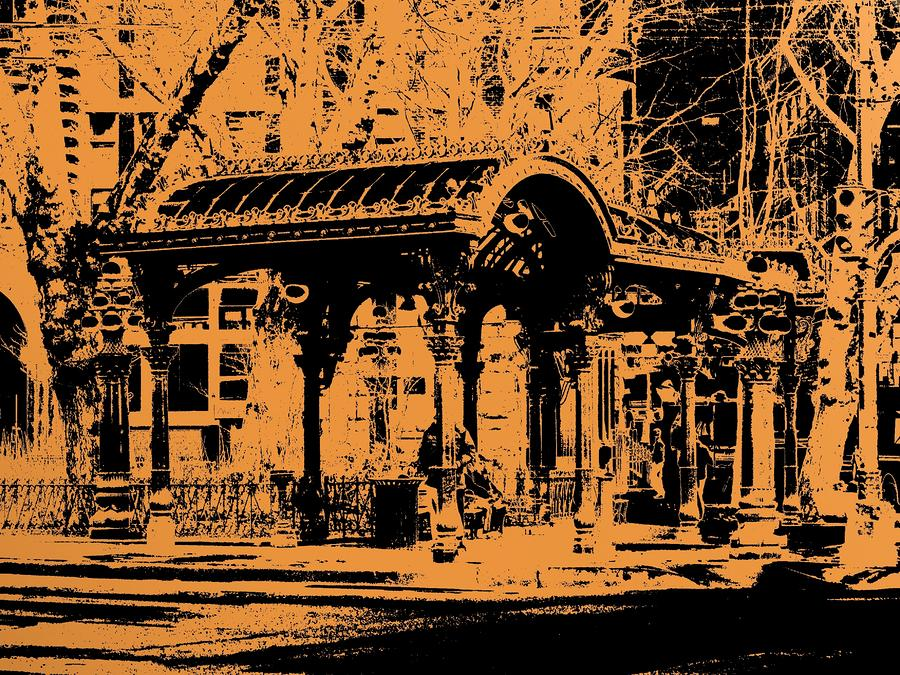 Pioneer Square Pergola Digital Art