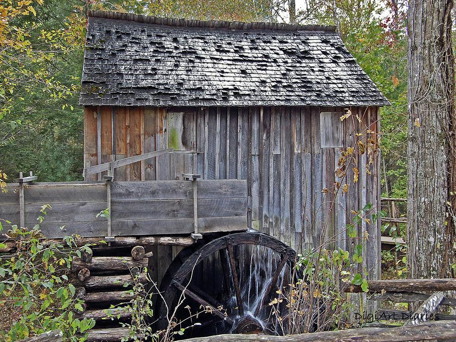 Pioneer Water Mill Digital Art