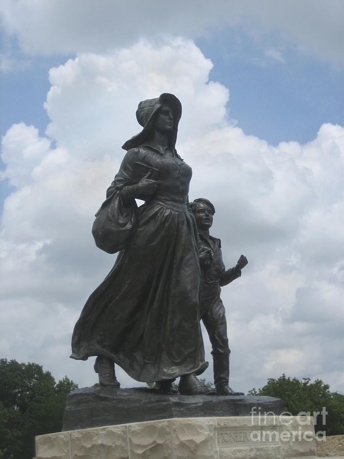Pioneer Woman Statue Oklahoma  Photograph  - Pioneer Woman Statue Oklahoma  Fine Art Print
