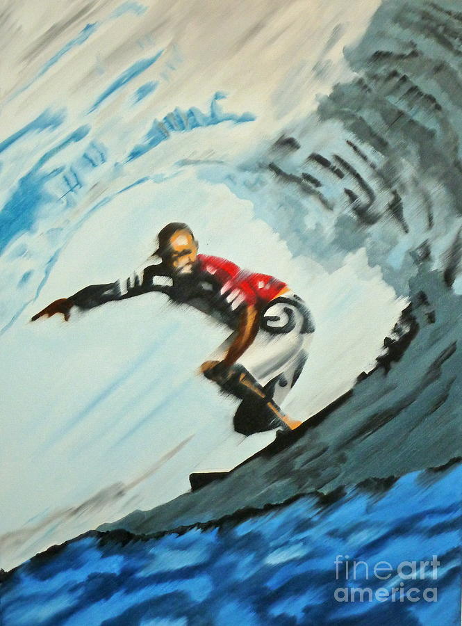 Surfer Painting - Pipe Cleaner by Alix Barker