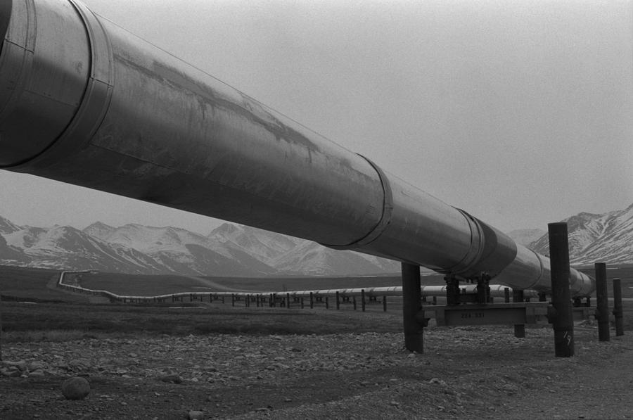 Pipeline Near Atigun Pass Brooks Photograph