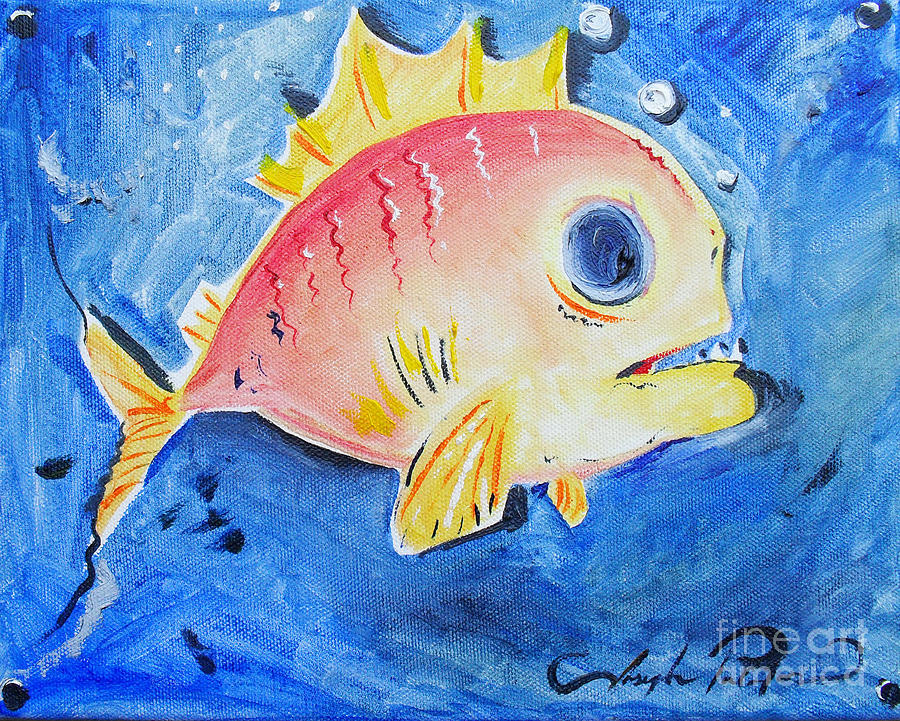 Piranha Art Painting  - Piranha Art Fine Art Print