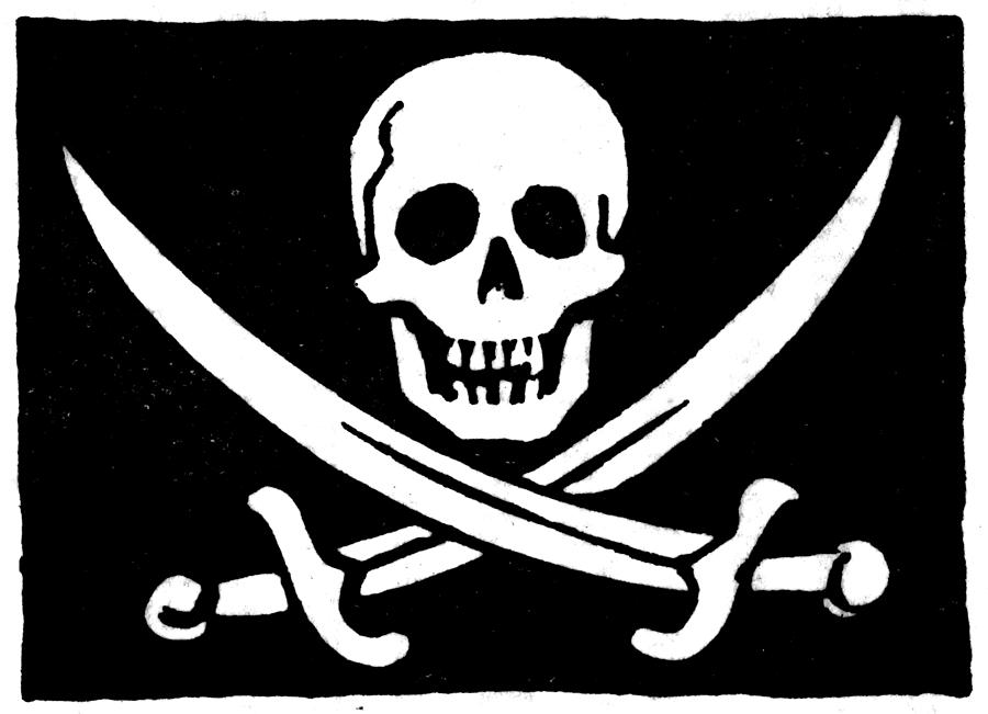 Modest image intended for pirate flag printable