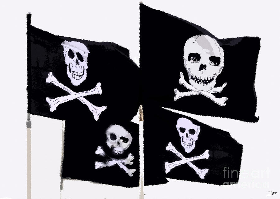 Pirate Flags Painting