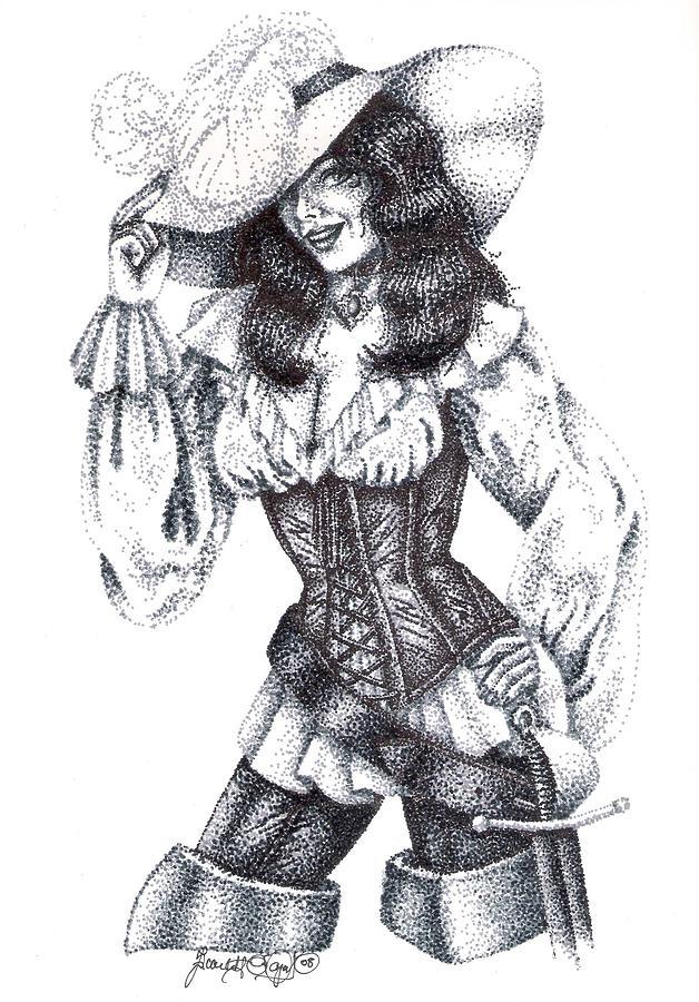 Female pirate drawing - photo#3