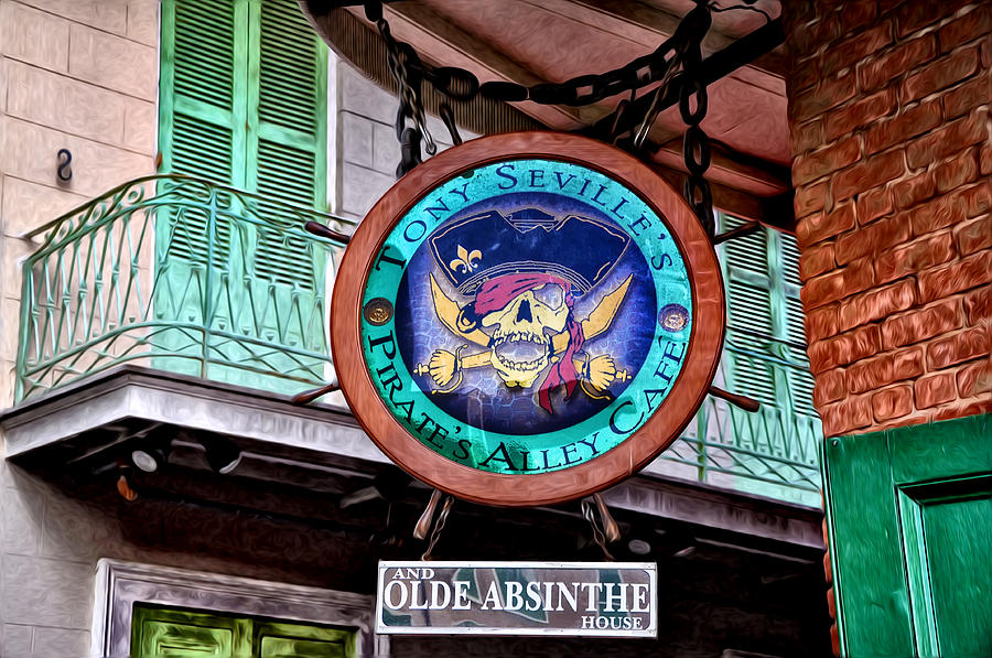 Pirates Alley Cafe Photograph  - Pirates Alley Cafe Fine Art Print