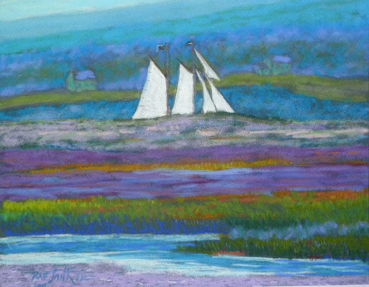 Pirates On The Lahave River Pastel  - Pirates On The Lahave River Fine Art Print