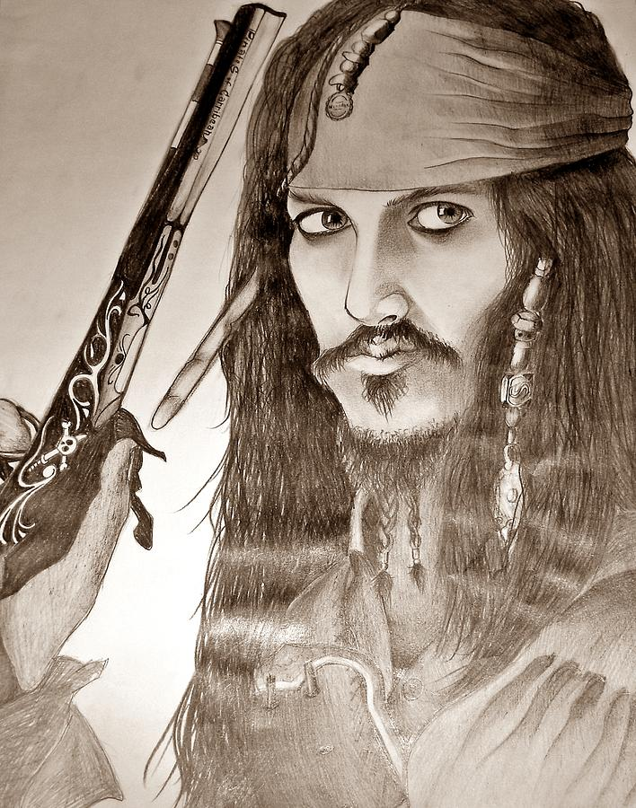 Pirats Of The Caribbean Drawing  - Pirats Of The Caribbean Fine Art Print
