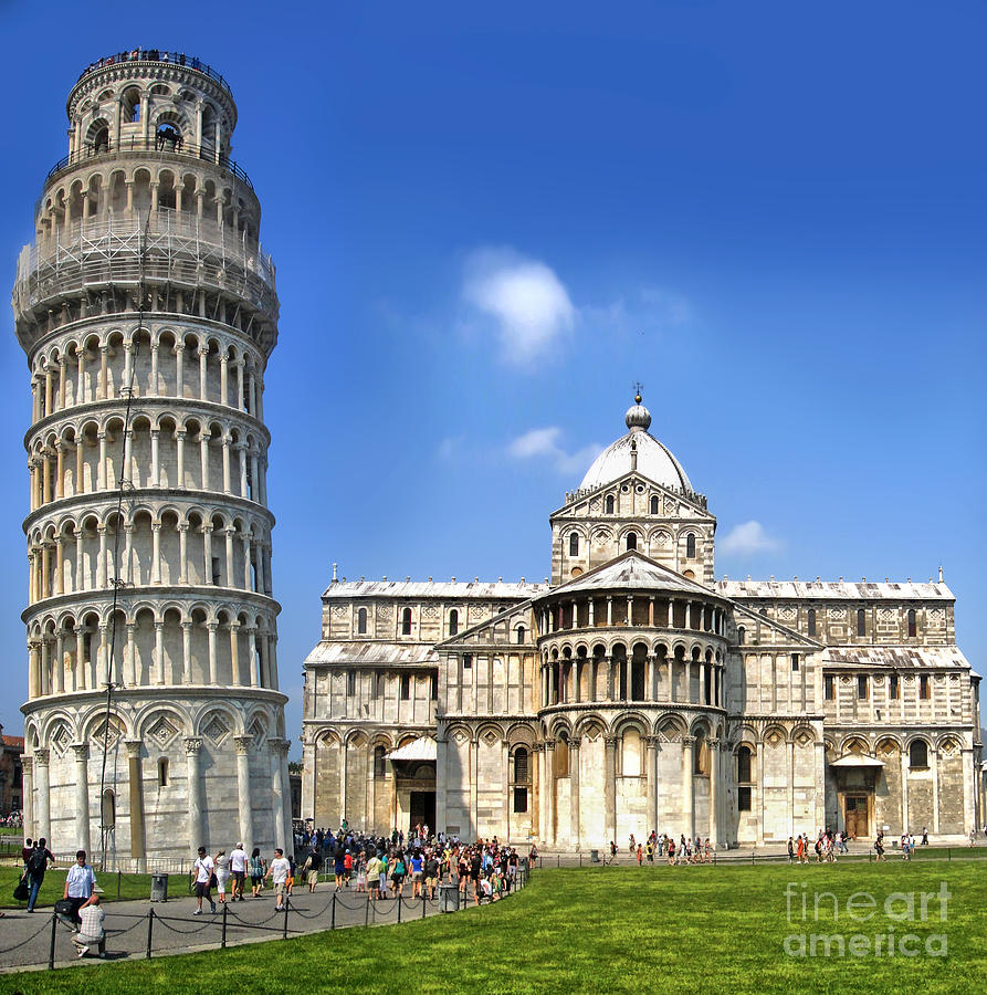 Pisa Italy Photograph - Pisa Italy - Piazza Dei Miracoli - 01 by Gregory Dyer