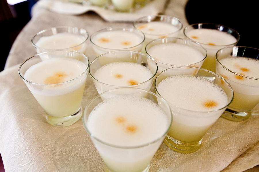 Pisco Sours Are Served By Peru Rail Photograph